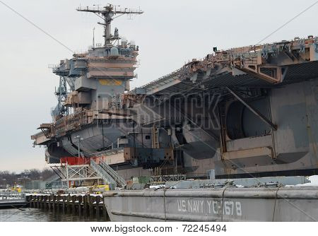 U.S. Navy Aircraft Carrier Decommissioned