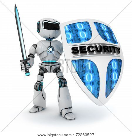 Robot And Shield