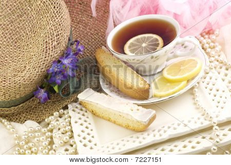 Tea Party With Lemon Biscotti