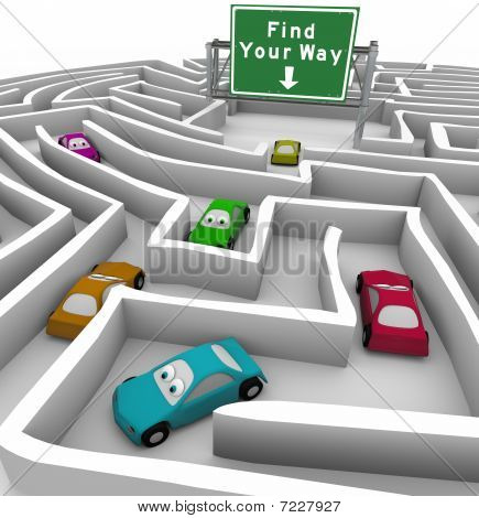 Find Your Way - Cars Lost In Maze