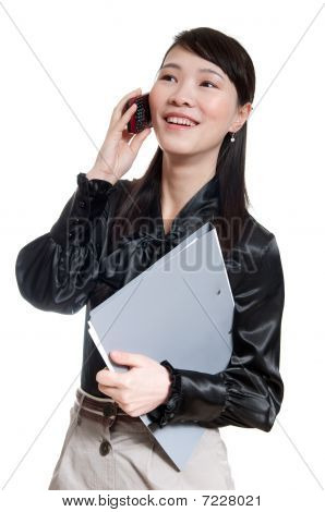 Business Woman On A White Background