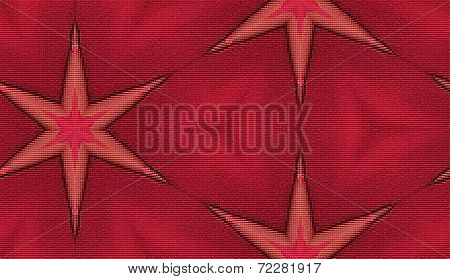 Red stars pattern - Repeatable seamless tiled background - Rectangle tile