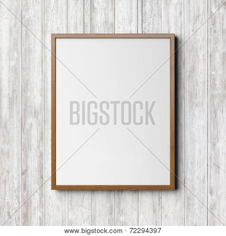 Wooden Frame On The Wood Background