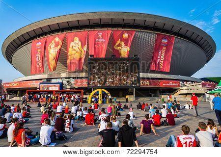 Fanzone at the Spodek Arena