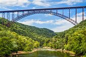 West Virginia's New River Gorge Bridge is one of the longest and highest spans in the world. poster