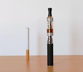 Electronic cigarette and normal cigarette