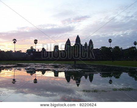 Ankor Wat at Sunset