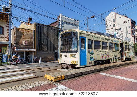 Hankai Tram in Osaka Japan