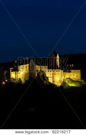 Loket Castle at night, Czech Republic