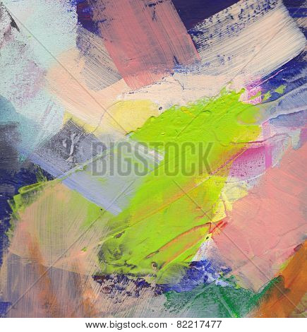 Abstract art - hand painted canvas background