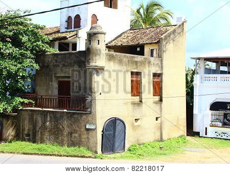 Galle, Sri Lanka, December 08, 2014. Old Building in Fort, 08 December 2014 in Galle, Sri Lanka