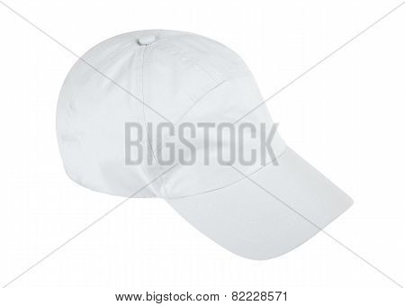 Baseball Cap Isolated On White Background W/ Clipping Path