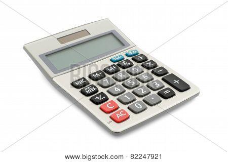 calculator isolated on white background
