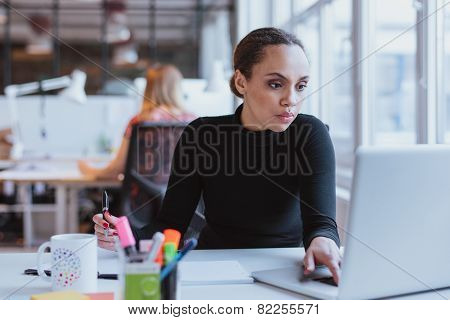 African Female Executive At Work