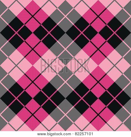 Argyle Design in Black and Pink