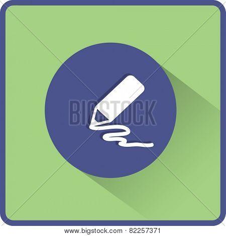 Stock Vector Illustration:  pencil icon. Flat vector illustration