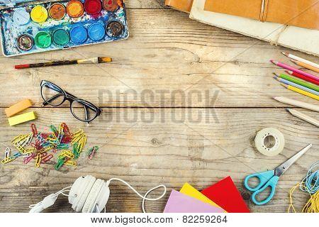 Desk of an artist