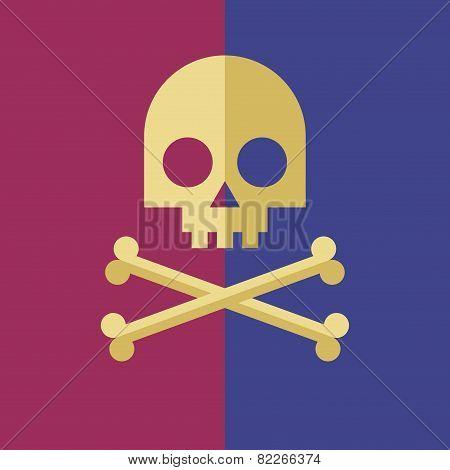 Vector skull and crossbones symbol. Eps8. RGB. Global colors. Gradients free poster