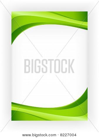 Abstract green ecology wave business template