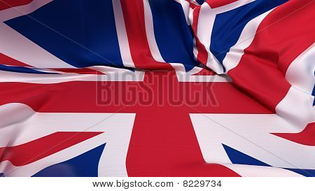 Showcase Pedestal Covered With Great Britain Flag