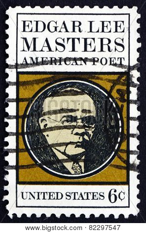 Postage Stamp Usa 1970 Edgar Lee Masters, American Poet