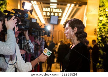 MOSCOW - JANUARY, 28: E. Linovich. Premiere of the movie Leviathan at Moscow Cinema,  January, 28, 2015 in Moscow, Russia