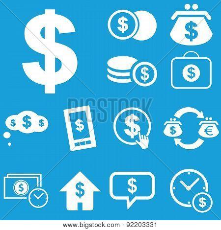 Dollar icon set