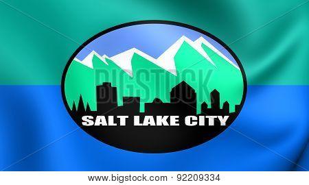 Flag Of Salt Lake City, Usa.