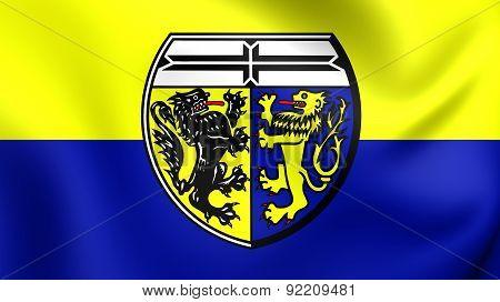 Flag Of Viersen Kreis, Germany.