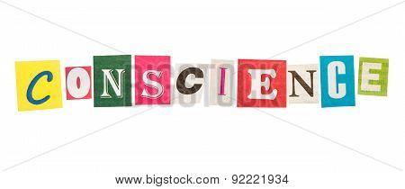 Conscience inscription letters