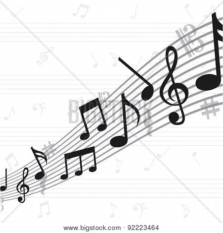 music design over  white background vector illustration