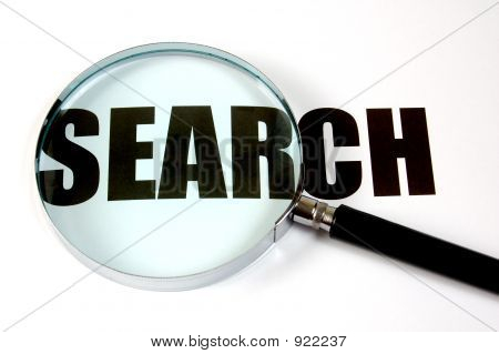 Magnifying Glass And Text - Search