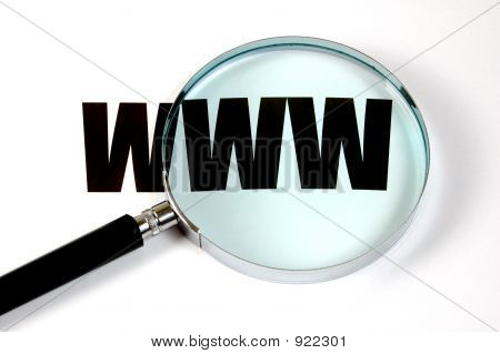 Magnifying Glass And Text Www
