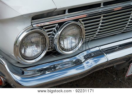 Details Of Headlight Of A Vintage Car