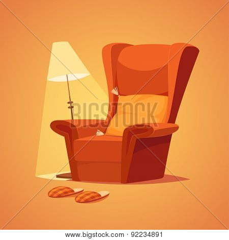 Cozy home stuff. Isolated object \ background.