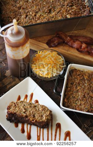 Bbq Bacon Cheddar Meatloaf Dinner Vertical