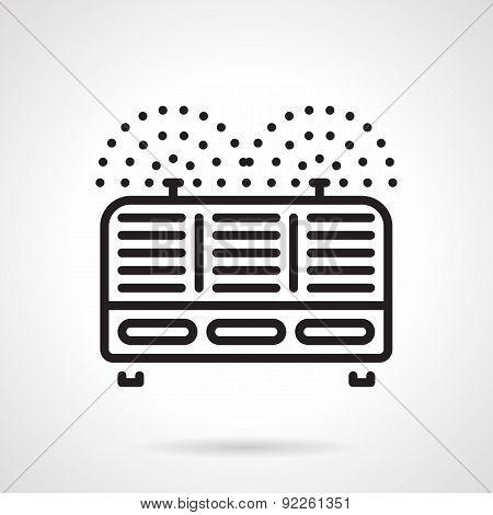 Industrial ionizer black line vector icon