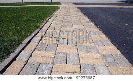 A Brick Walkway