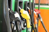 Fuel dispenser or Fuel nozzle in the Petrol station poster