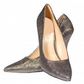 Women's Silver Stilettos