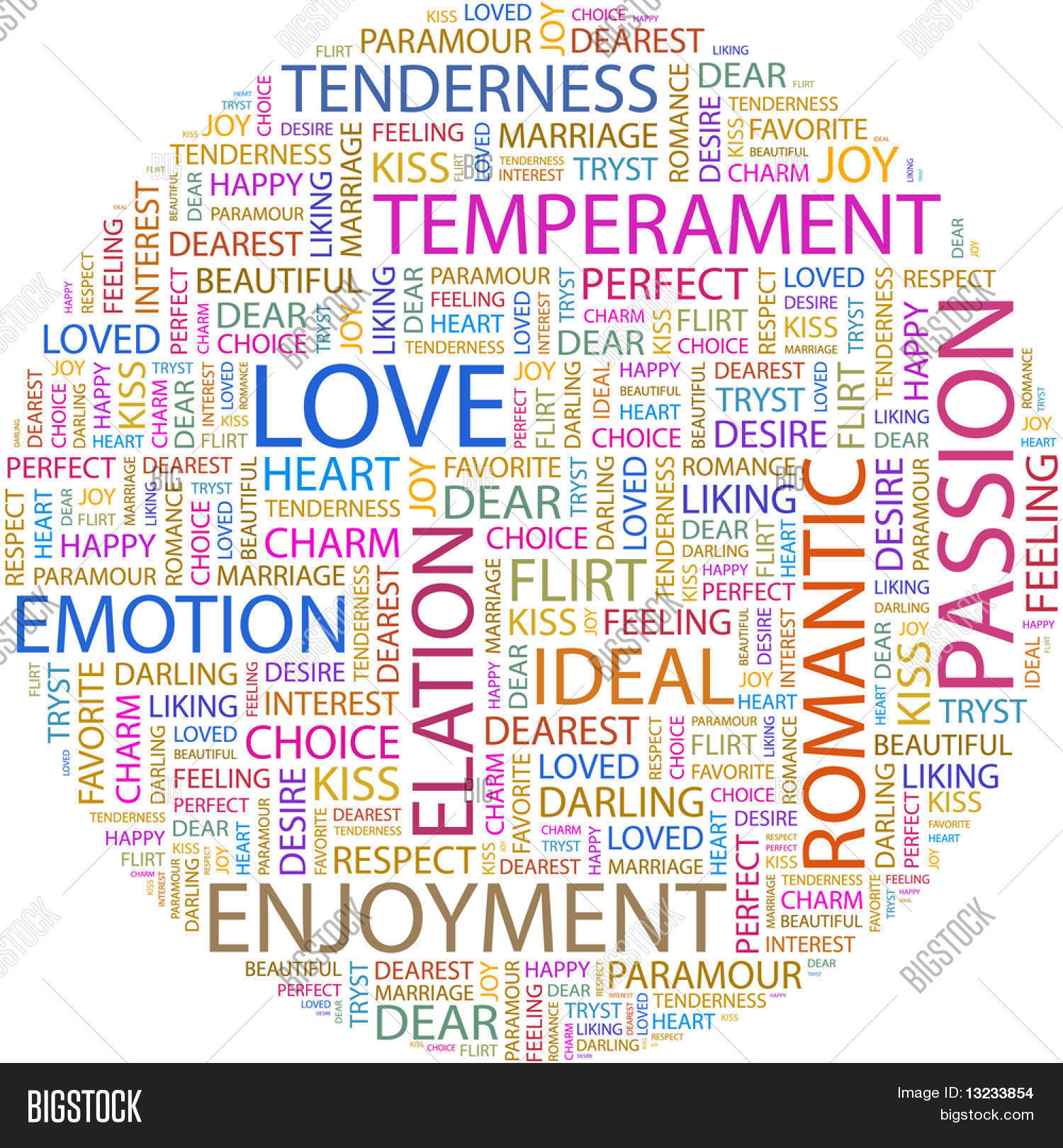 Love Word Collage On White Background Il Ration With Different Ociation Terms