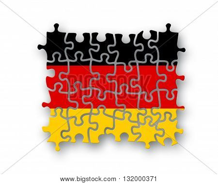 Germany Flag Jigsaw