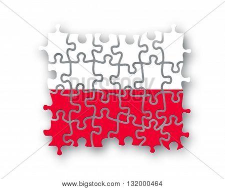 Poland Flag Jigsaw