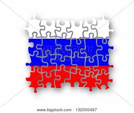 Russia Flag Jigsaw