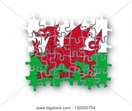Wales Flag Jigsaw