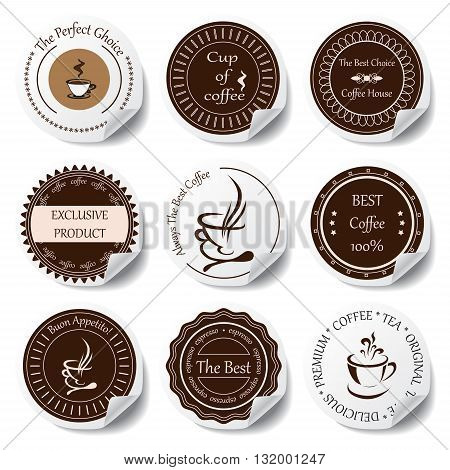 stock vector set of label for restaurant and cafe