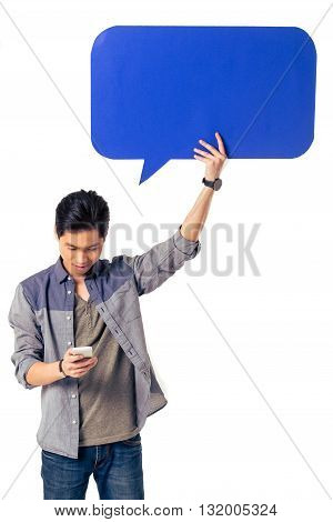 Chinese With Speech Bubble And Gadget