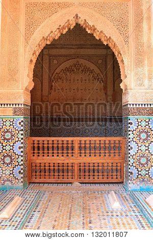 Decorative Doorway  In Morocco
