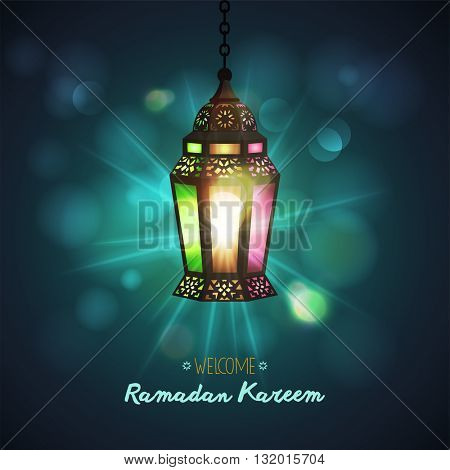 Ramadan Kareem greeting background . Vector illustration.