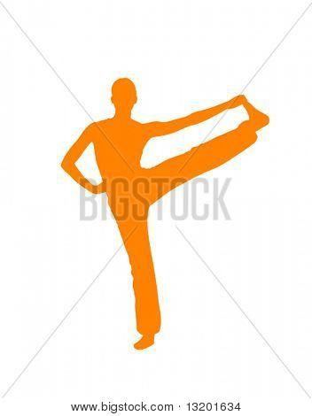 Yoga pose vector illustration
